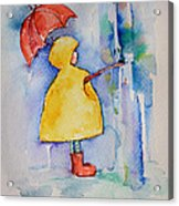 Umbrella Boy II Acrylic Print