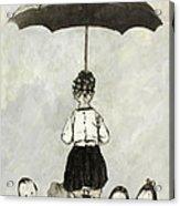 Umbrella Children Acrylic Print