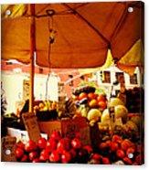 Umbrella Fruitstand - Autumn Bounty Acrylic Print
