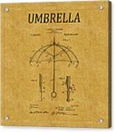 Umbrella Patent 1 Acrylic Print