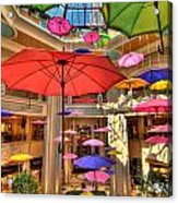 Umbrellas At Palazzo Shops Acrylic Print by Amy Cicconi