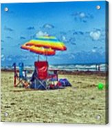 Umbrellas At The Beach Acrylic Print