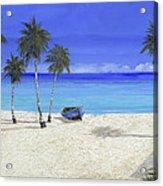 Una Barca Blu Acrylic Print