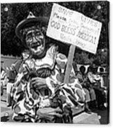 Uncle Harry Clown Drive Carefully  God Bless America Sign Tucson Arizona 1991 Acrylic Print