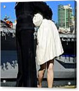 Unconditional Surrender Kiss Acrylic Print