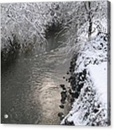 Under A Blanket Of Snow Acrylic Print