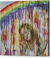 Under A Crying Rainbow Acrylic Print