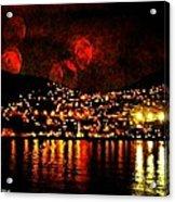 Corinth Under A Milti Moon Sky Acrylic Print