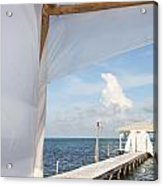 Under The Bamboo Lanai Caye Caulker Belize Acrylic Print