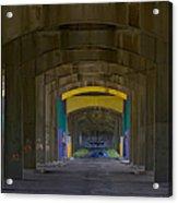 Under The Bridge   #1247 Acrylic Print