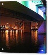 Under The Bridge In Long Beach Acrylic Print
