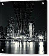 Under The Bridge - New York City Skyline And 59th Street Bridge Acrylic Print