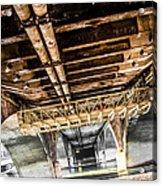 Under The Golden Bridge Acrylic Print