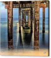 Under The Gulf Shores Pier Acrylic Print by JC Findley