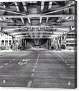 Chicago Wells Street Bridge Photo Acrylic Print