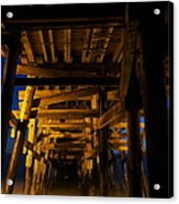 Under The Pier At Night Acrylic Print