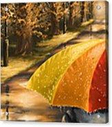 Under The Rain Acrylic Print