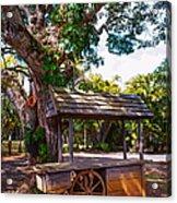 Under The Shadow Of The Tree. Eureka. Mauritius Acrylic Print