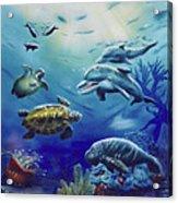 Under Water Antics Acrylic Print