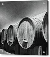 Underground Wine Cellar With Wooden Acrylic Print