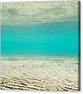 Underwater Sand Beach Acrylic Print