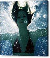 Underwater Self-portrait Acrylic Print