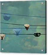 Underwear On A Washing Line  Acrylic Print