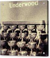 Underwood Acrylic Print