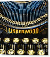 Underwood Typewriter Acrylic Print