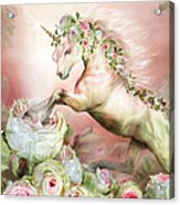 Unicorn And A Rose Acrylic Print