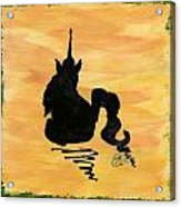 Unicorn At Rest Acrylic Print by Gail Schmiedlin