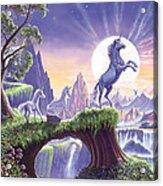 Unicorn Moon Acrylic Print