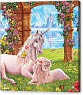 Unicorn Mother And Foal Acrylic Print