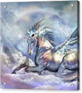 Unicorn Of Peace Acrylic Print