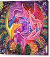 Unicornio Dorado Acrylic Print