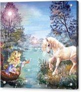 Unicorns Lake Acrylic Print