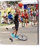 Unicyclist - Basketball - Street Rules  Acrylic Print