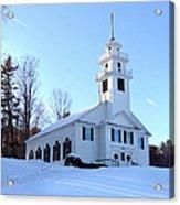 Union Meeting House In West Newbury Vermont Acrylic Print