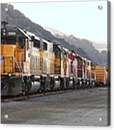 Union Pacific Locomotive Trains . 7d10563 Acrylic Print