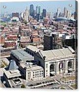 Union Station And Downtown Kansas City Acrylic Print