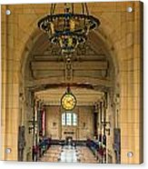Union Station Chandelier Acrylic Print