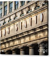 Union Station Chicago Sign And Building Acrylic Print