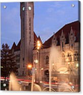 Union Station In Twilight Acrylic Print