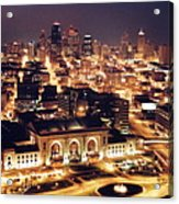 Union Station Night Acrylic Print
