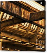 Union Station Roof Beams Acrylic Print