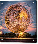 Unisphere At Sunset Acrylic Print