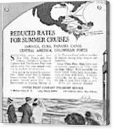 United Fruit Company, 1922 Acrylic Print