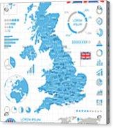 United Kingdom - Infographic Map - Acrylic Print