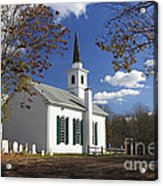 United Methodist Church Waterloo Village Acrylic Print