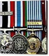 United Nations Peacekeeping Korean War Nato Medals Acrylic Print